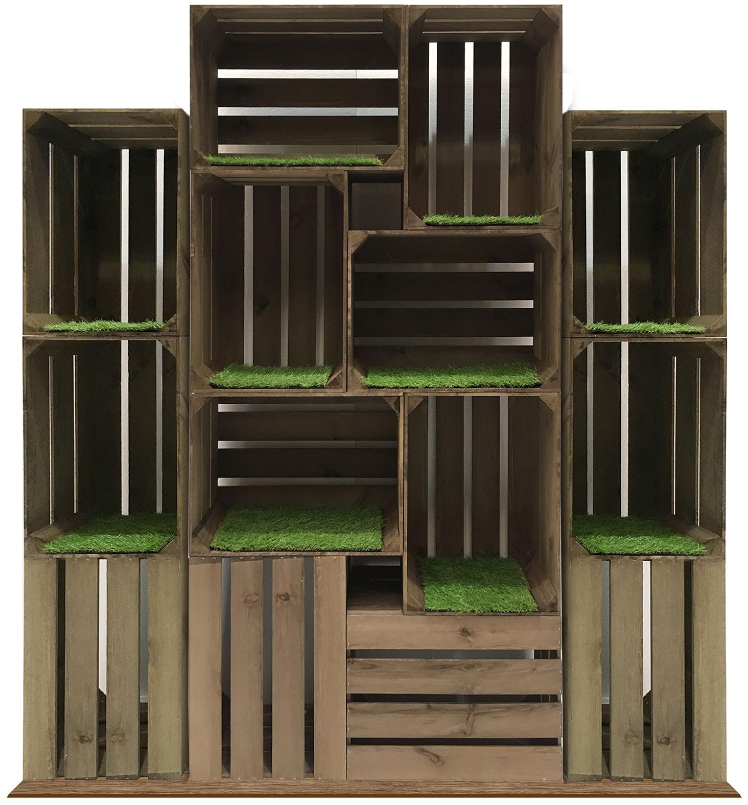 Rustic Crate Stands Artisan Merchandise Presentation