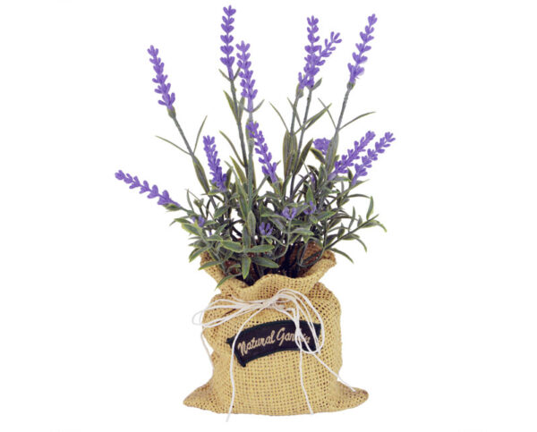 Lavender In Hessian Sack