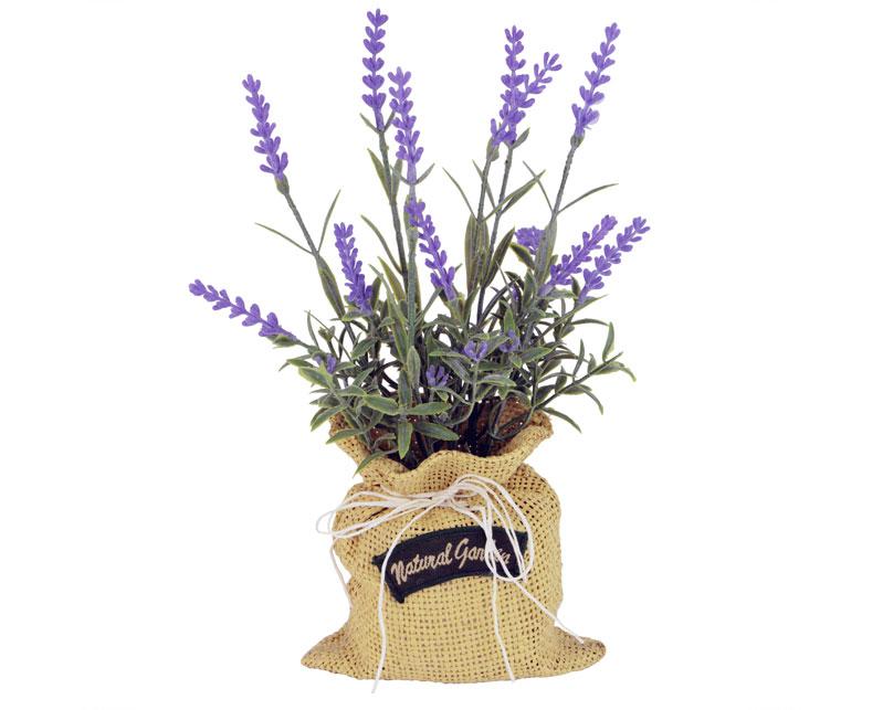 Lavender In Hessian Sack