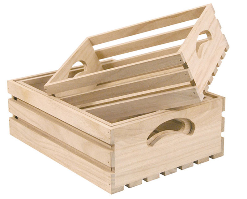 Wooden Slatted Trays