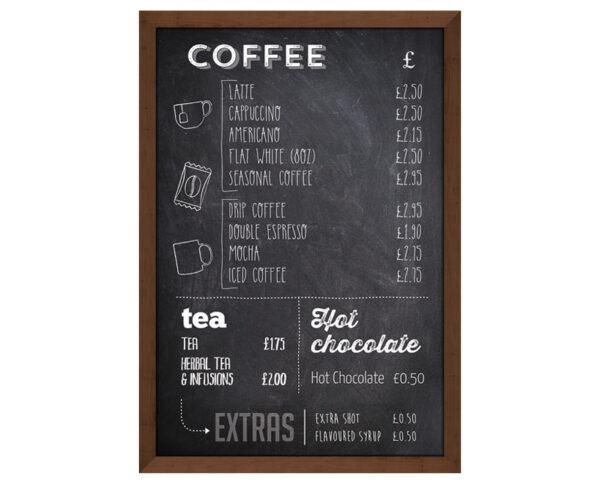 Printed chalkboard