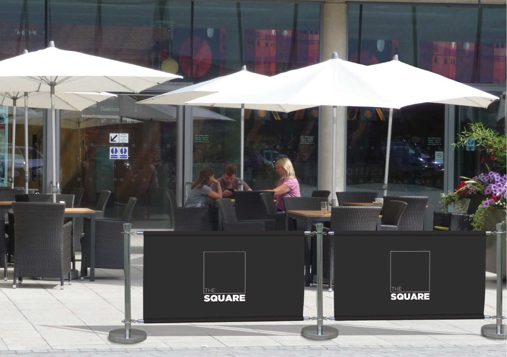 Cafe Barriers Premium Range Chrome Barriers