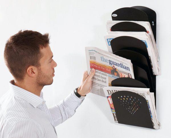 metal newspaper rack