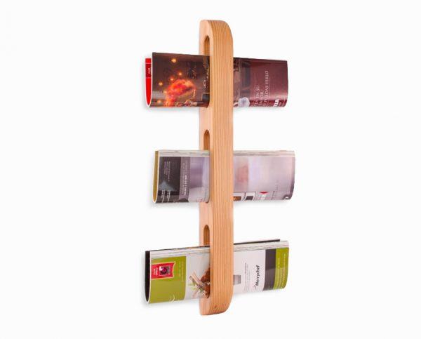 wood newspaper rack