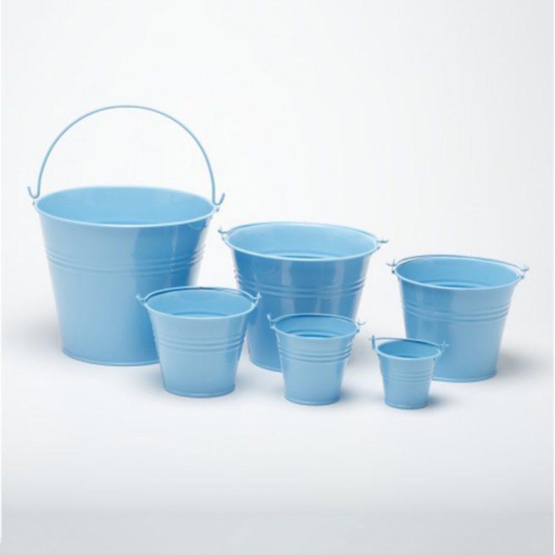 blue buckets