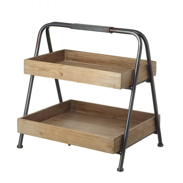 metal and wood merchandiser