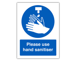 Please use hand sanitiser panel