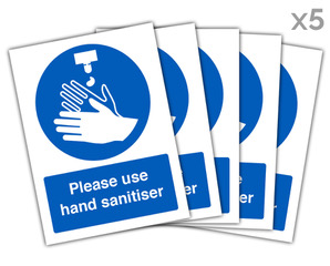 Use Sanitiser Panel