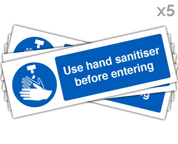 Use Hand Sanitiser 100x300mm