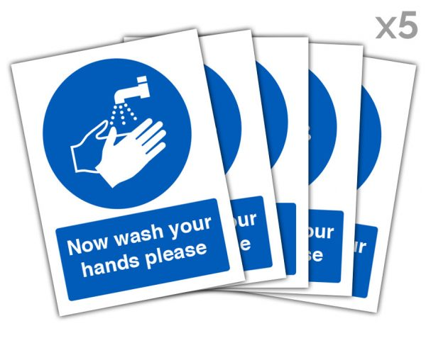 Now Wash Hands Panel