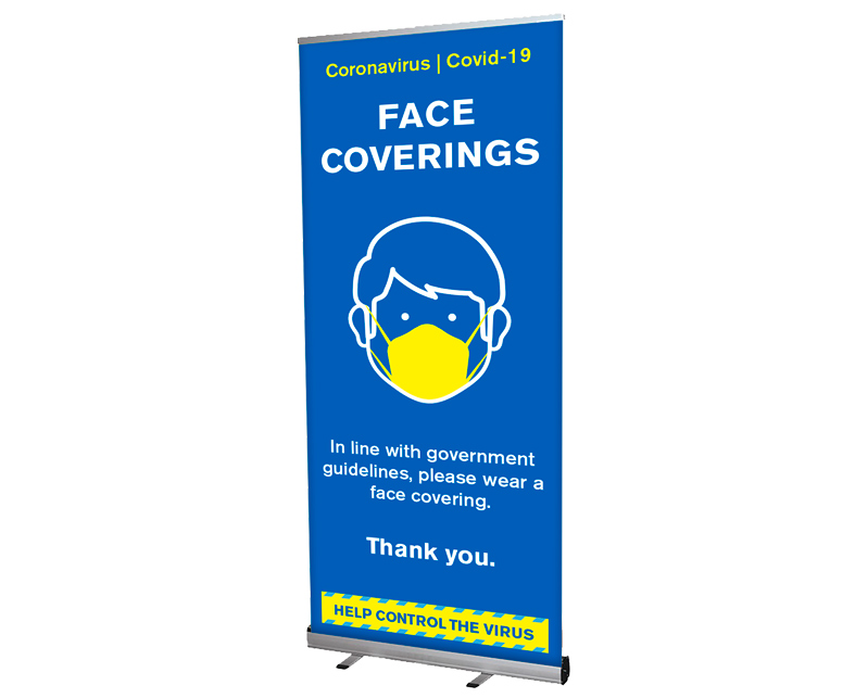 Face covering banner