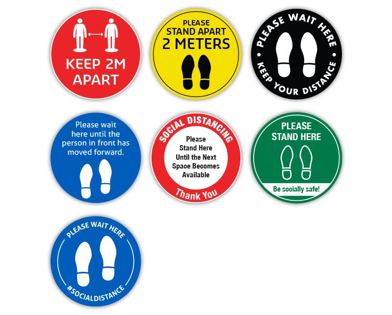 Round Floor Stickers All
