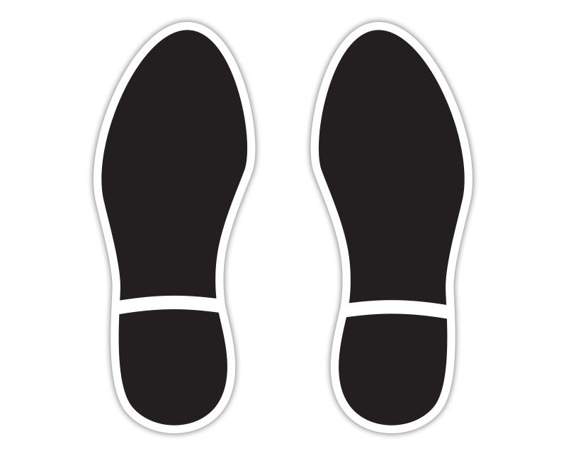 Black Footprint Floor Stickers