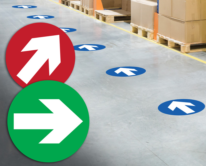 Anti Slip Floor Arrows
