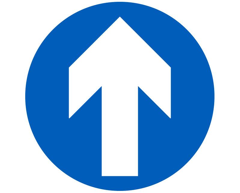 Blue Floor Arrow