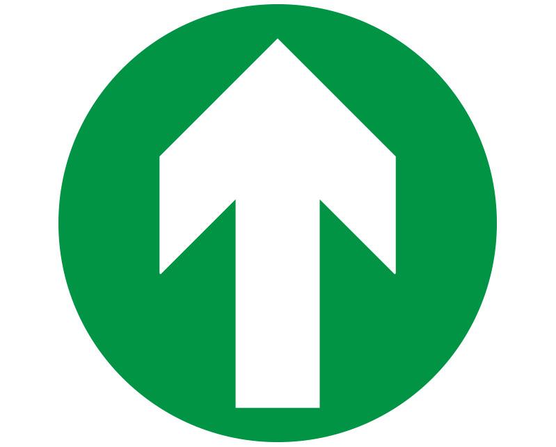Green Floor Arrow