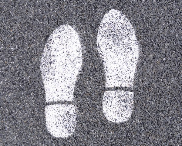Foot Print Stencil