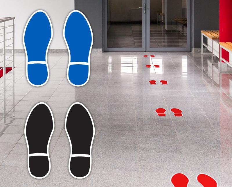 Footprint Floor Stickers