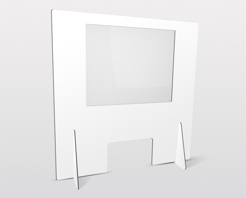 Solid screen with window