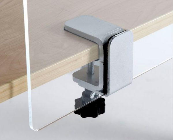 Screen with desk clamp