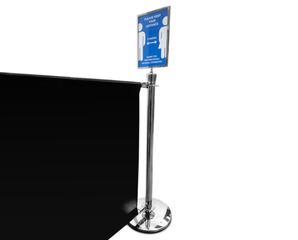 Barrier and Poster holder